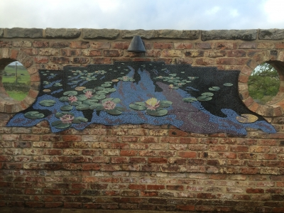 water lilies mosaic